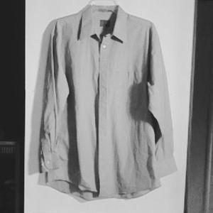 Calvin Klein L Grey Dress Shirt